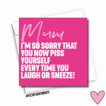 PINK SNEEZE MUM CARD - FS1064
