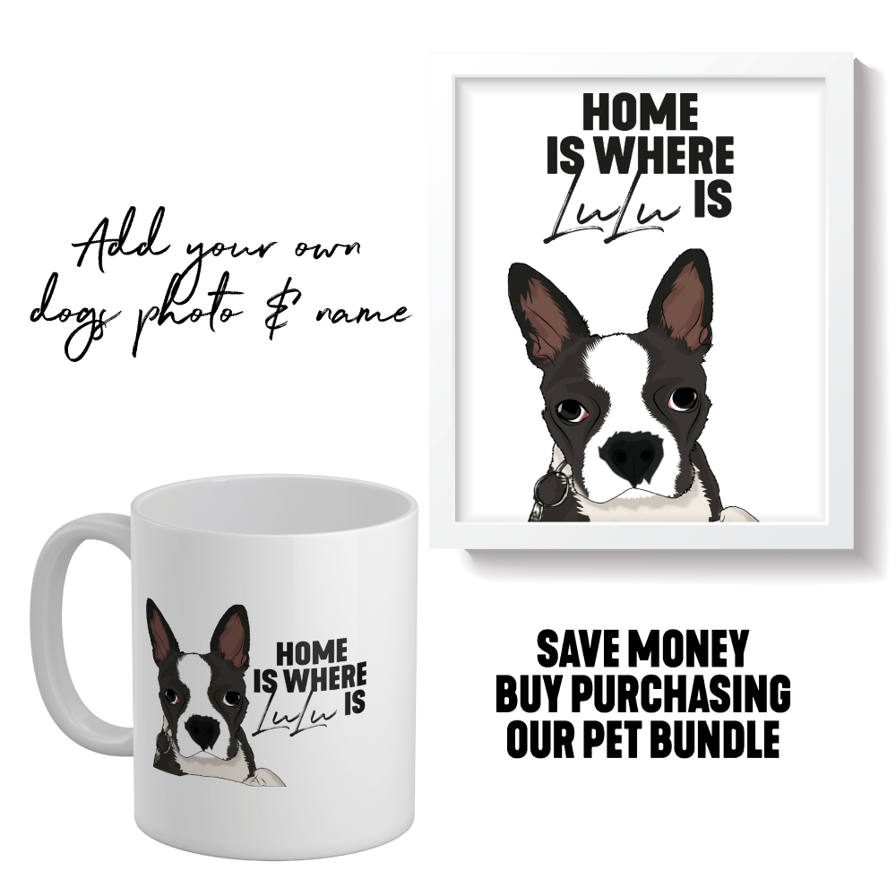 PERSONALISED HOME IS WHERE PET PRINT (DOG CAT OR ANY PET) - PET002