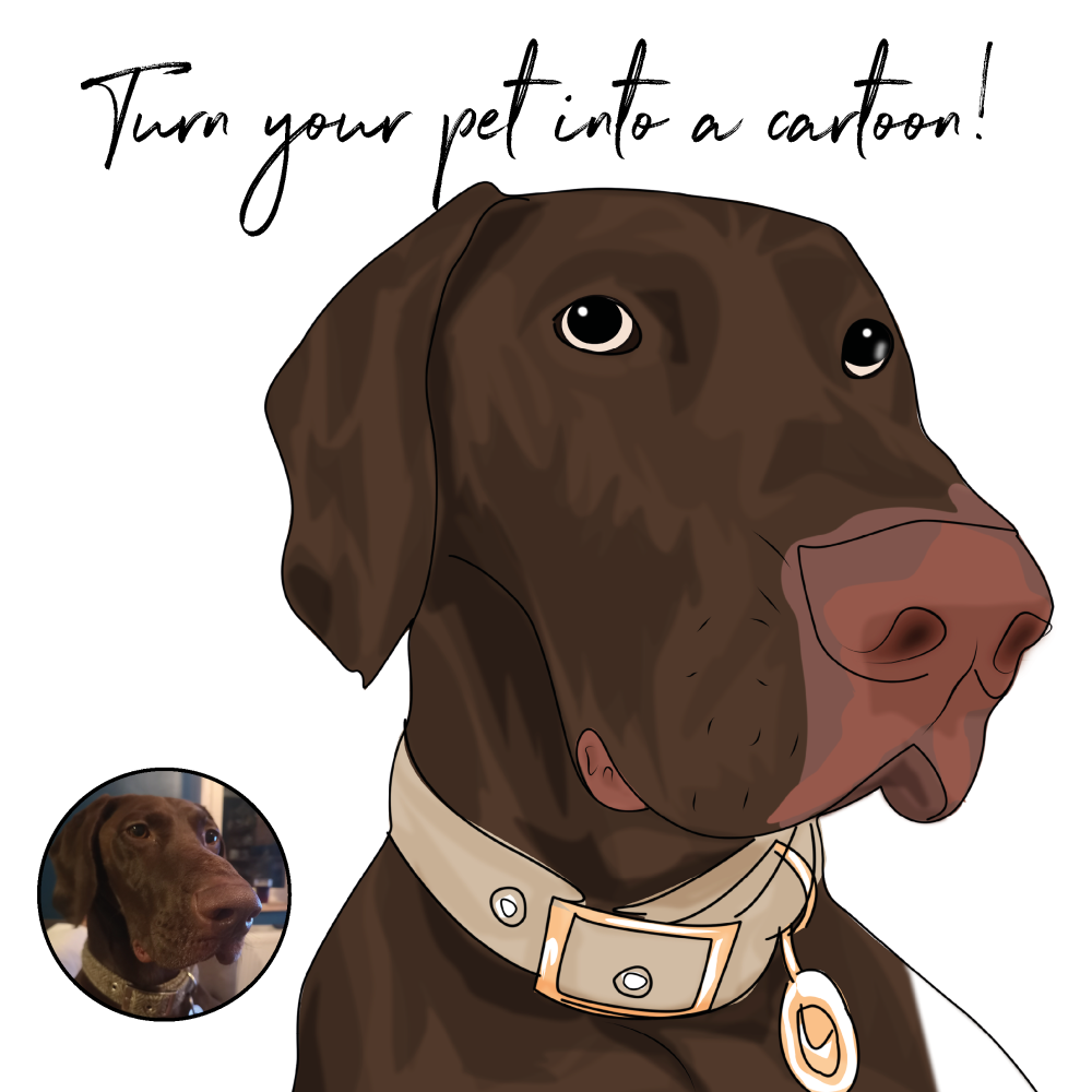 DIGITAL CARTOON PHOTO OF YOUR PET