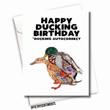 FUCKING DUCKING AUTO CORRECT CARD - FS1078