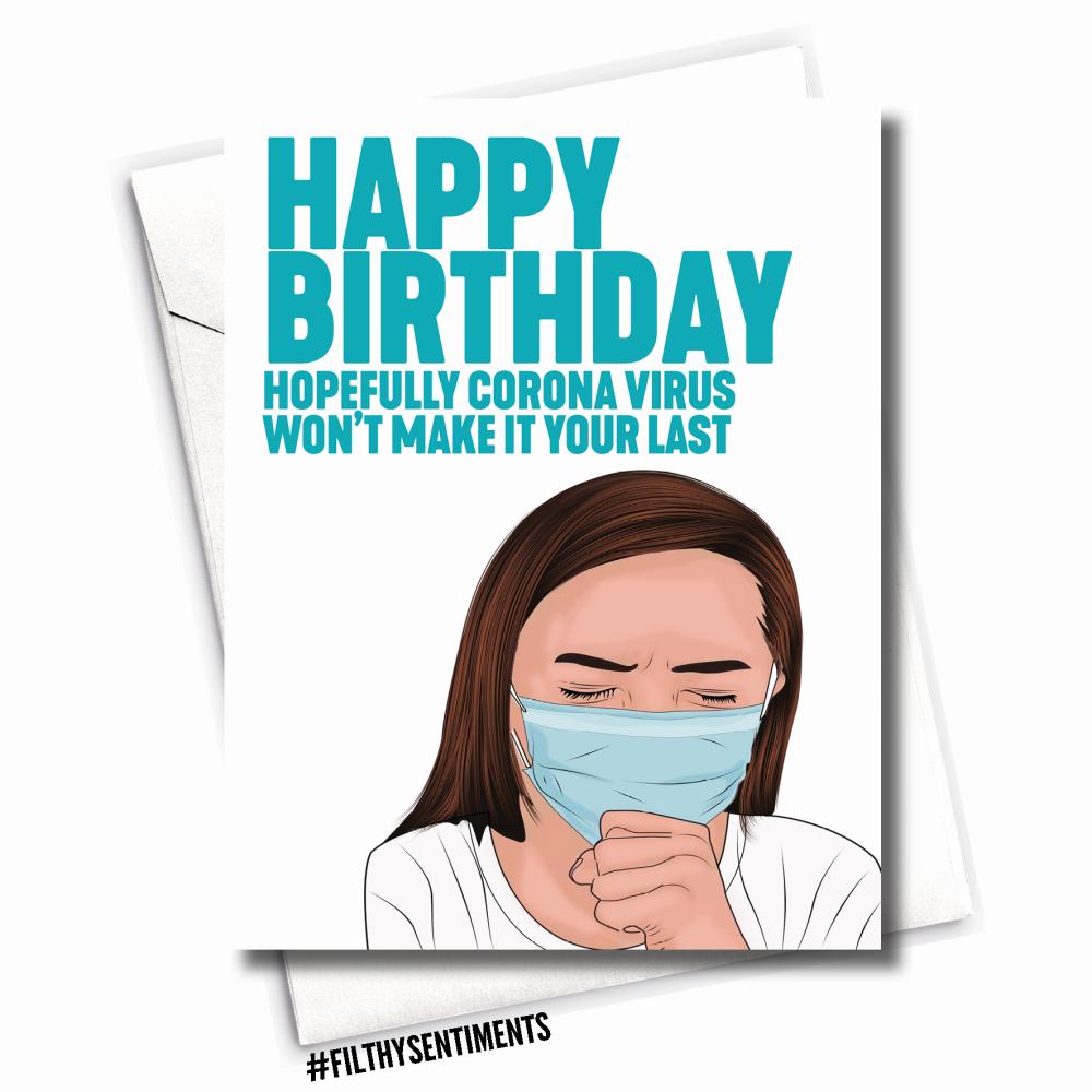 BIRTHDAY CORONA VIRUS CARD - FS1088