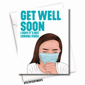 GET WELL SOON CORONAVIRUS CARD - FS1087