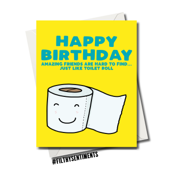 AMAZING FRIEND TOILET ROLL CARD - FS1104