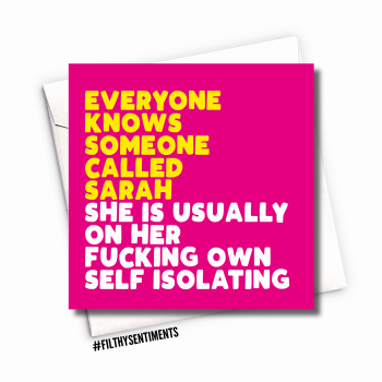 PINK EVERYONE KNOWS CARD - FS1108