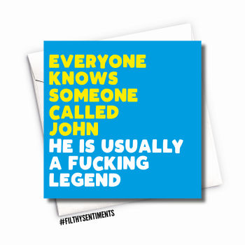 BLUE EVERYONE KNOWS CARD - FS1107