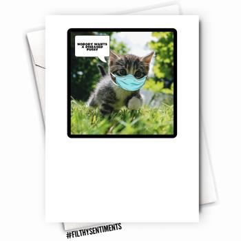 CAT DISEASE PUSSY CARD - FS1119