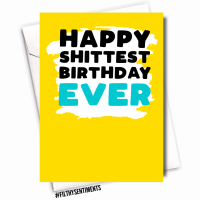 HAPPY SHIT SELF ISOLATING BIRTHDAY CARD - FS1127