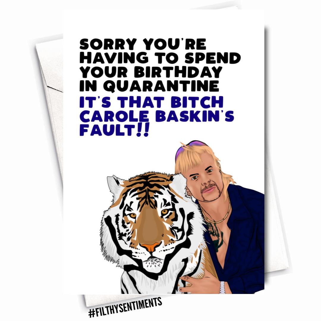 TIGERKING BIRTHDAY CARD