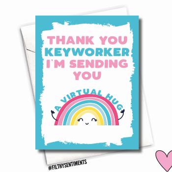 KEYWORKER THANK YOU CARD - FS1134