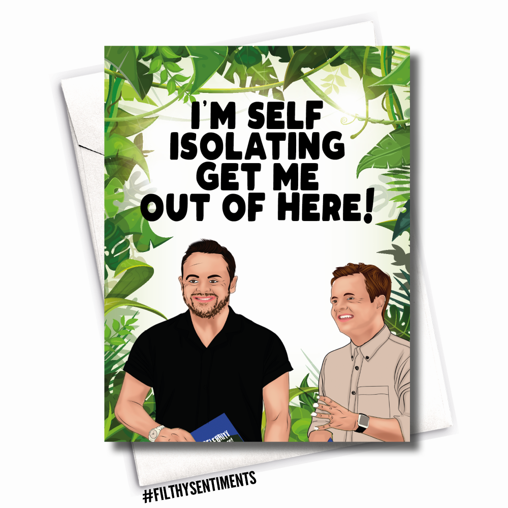 GET ME OUT OF HERE CORONAVIRUS CARD -
