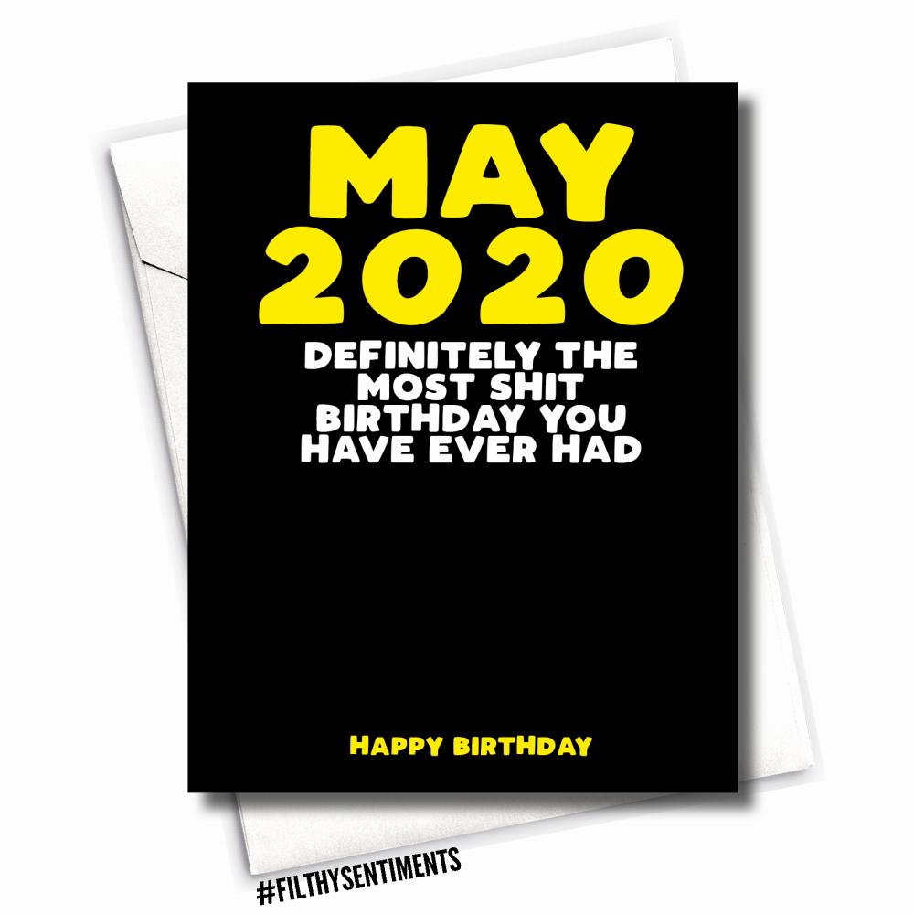 Funny Coronavirus Birthday Card