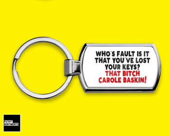 TIGERKING CAROLE BASKIN FAULT  LOST CAR KEYS KEYRING