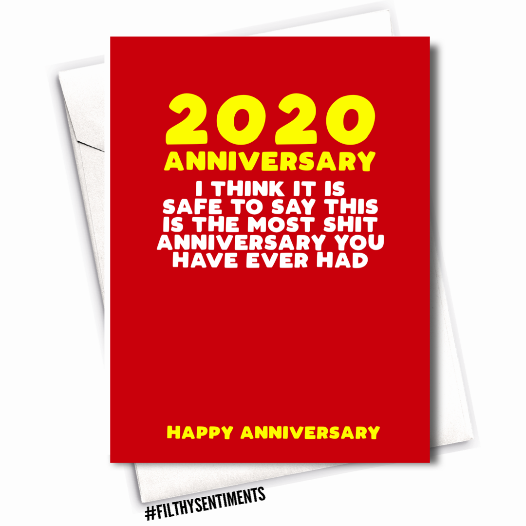 MOST SHIT ANNIVERSARY CARD