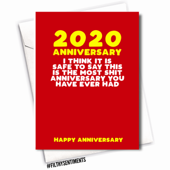 MOST SHIT ANNIVERSARY CARD  - FS1138