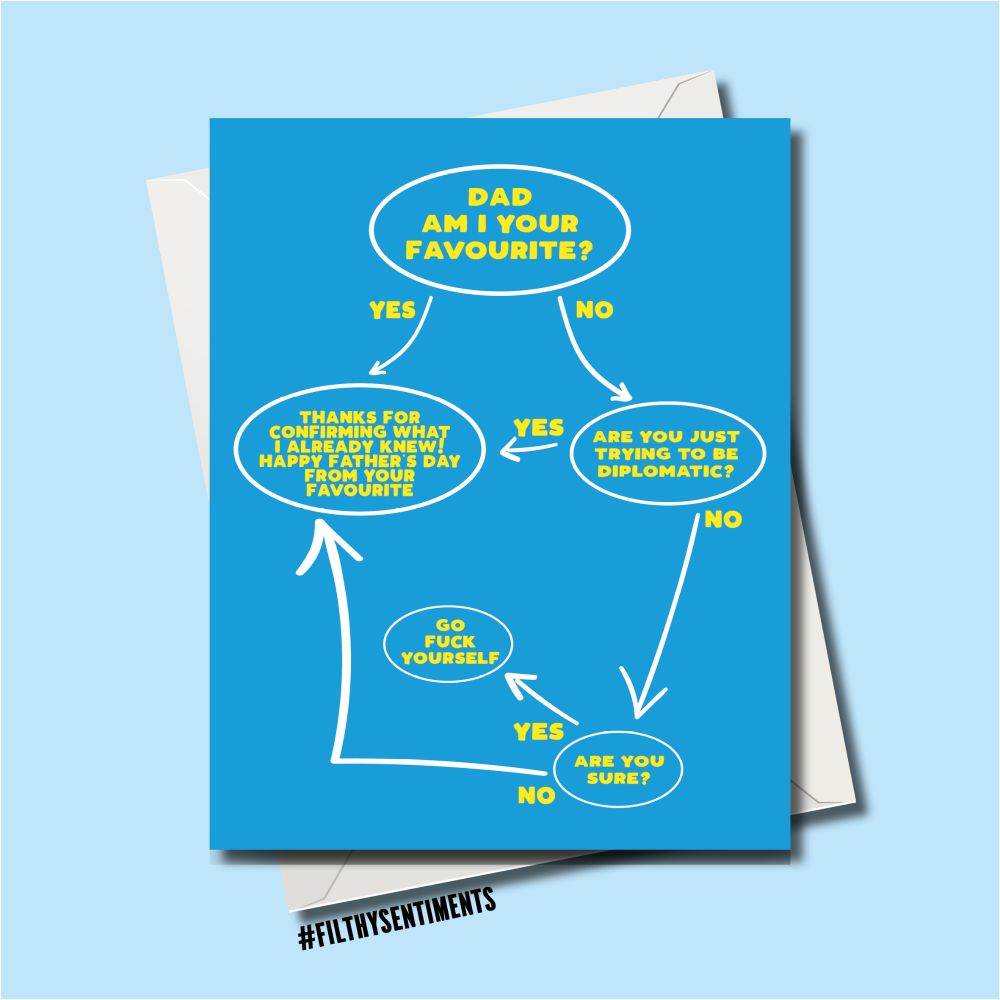 FATHER'S DAY FAVOURITE FLOWCHART - FS9009