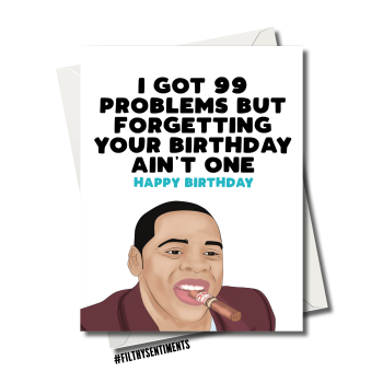 JAY Z BIRTHDAY CARD FS1148