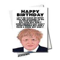BORIS JOHNSON BUT DON'T BIRTHDAY CARD FS1159