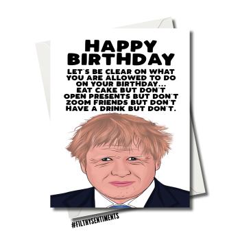 BORIS JOHNSON BUT DON'T BIRTHDAY CARD FS1159