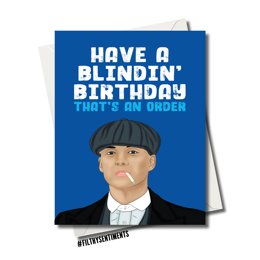 Blindin/' Peaky Blinders Birthday Any Text Birthday Card