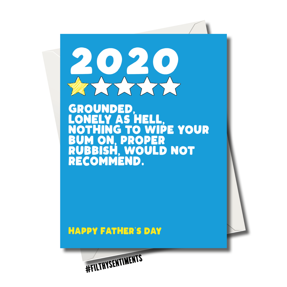 REVIEW OF 2020 FATHER'S DAY CARD