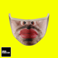 FUNNY LIPSTICK MAN FACE MASK E009