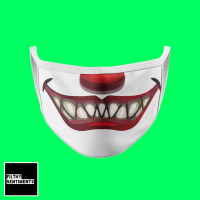 SCARY CLOWN FACE MASK E0011