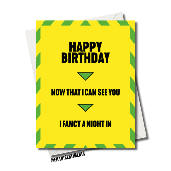 NOW I CAN SEE YOU I FANCY A NIGHT IN BIRTHDAY  CARD - FS1170