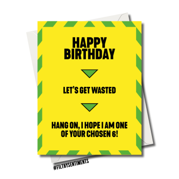 LOCKDOWN LET'S GET WASTED BIRTHDAY  CARD - FS1169