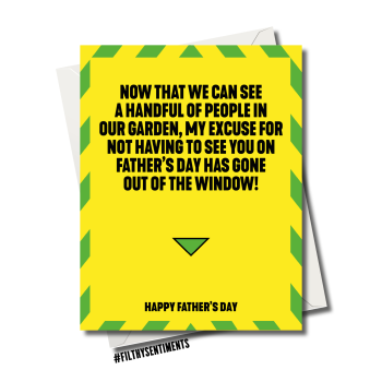 FATHER'S DAY NO EXCUSE TO SEE YOU LOCKDOWN CARD - FS1172