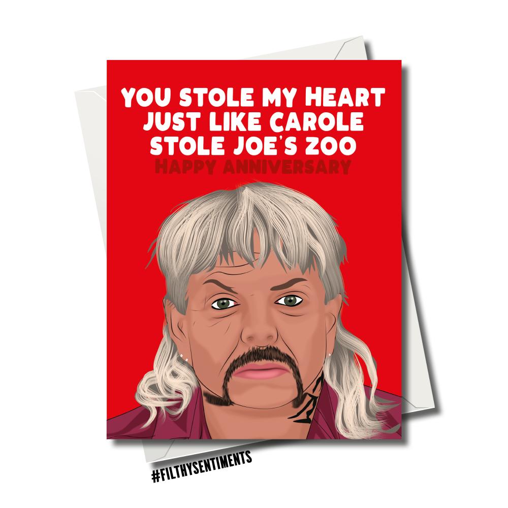 TIGERKING ANNIVERSARY ZOO CARD