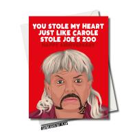 TIGERKING ANNIVERSARY ZOO CARD FS1173