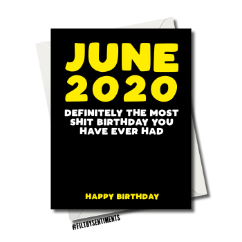 FUNNY 2020 CORONAVIRUS BIRTHDAY CARD