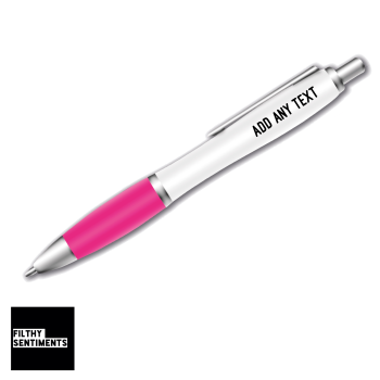 FULLY  PERSONALISED PINK GRIP PEN