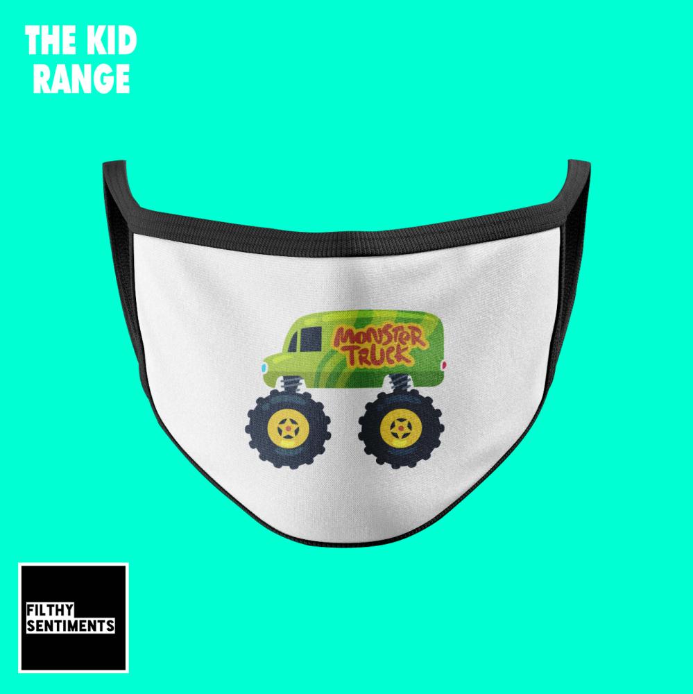 KIDS FACE MASK - MONSTER TRUCK (PRE ORD