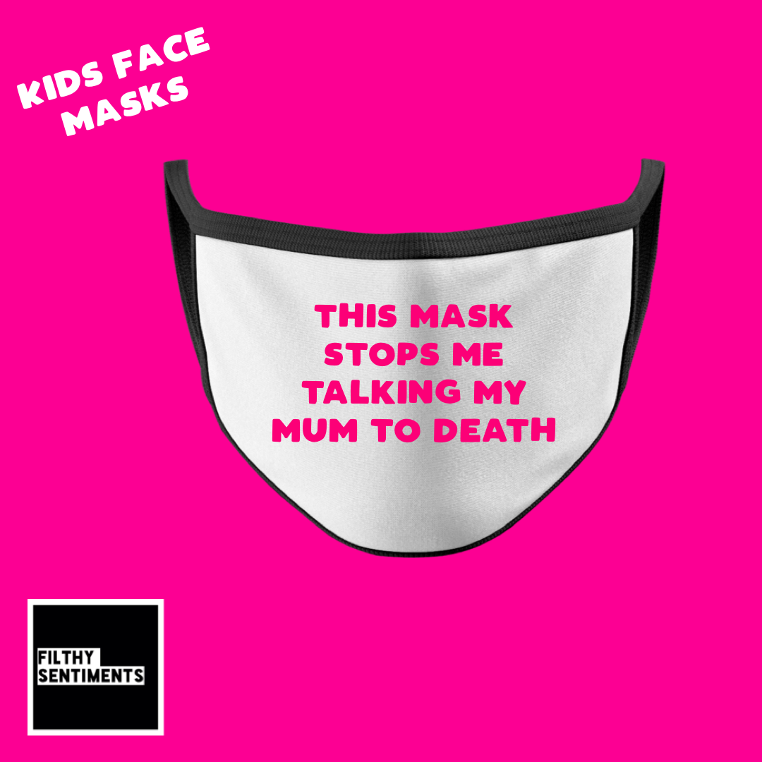 KIDS FACE MASK - TALK TO DEATH