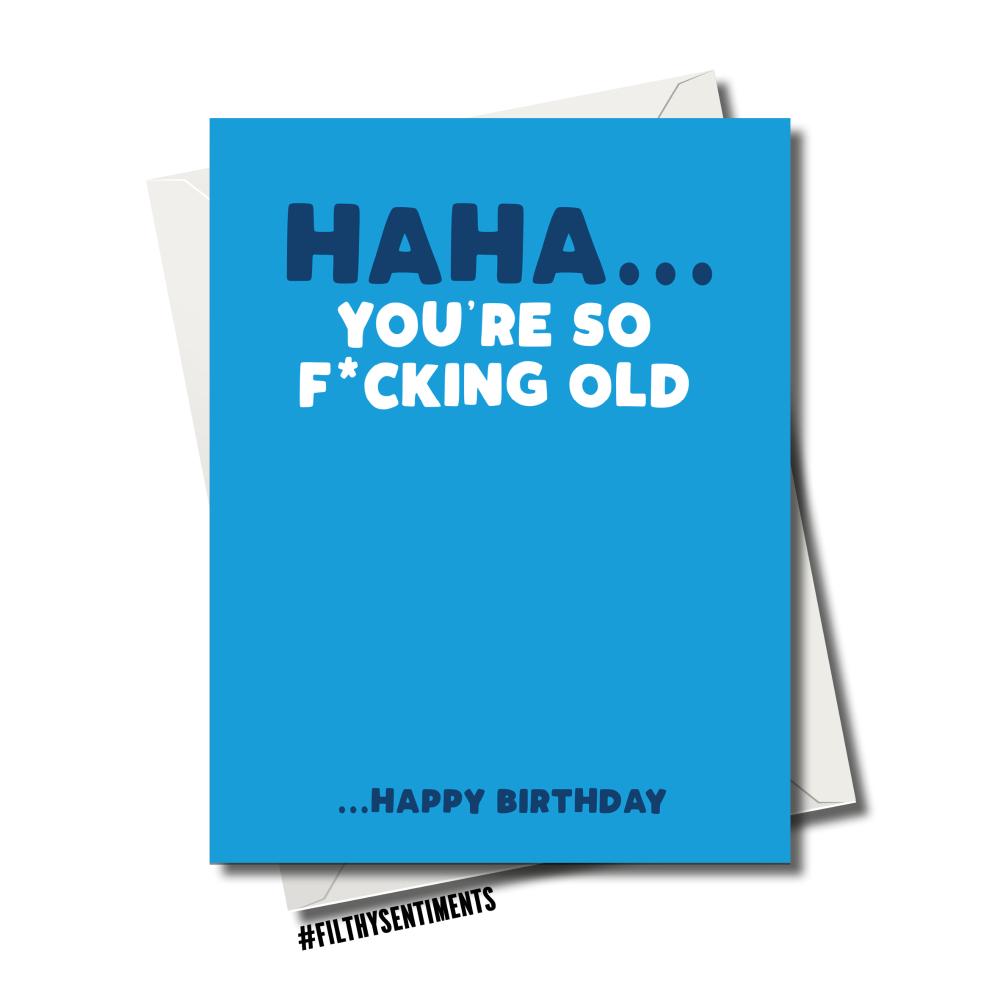 BLUE SO OLD CARD - 83