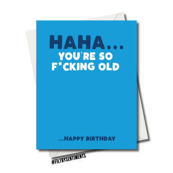 BLUE SO OLD CARD - 83
