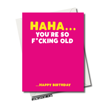 PINK SO OLD CARD - 84