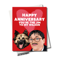 ANNIVERSARY JIM & WILSON FRIDAY NIGHT DINNER CARD FS1192