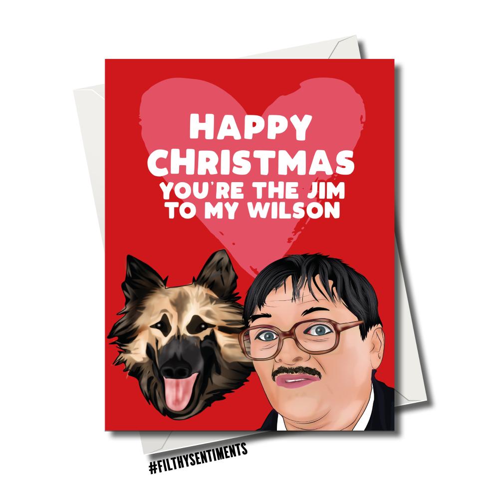 CHRISTMAS JIM & WILSON FRIDAY NIGHT DINNER CARD 102