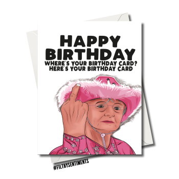 DORIS, GAVIN AND STACEY CARD FS1199