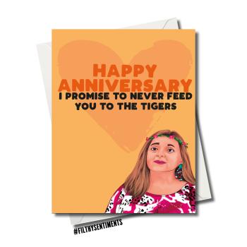 CAROLE BASKIN TIGER ANNIVERSARY CARD 115