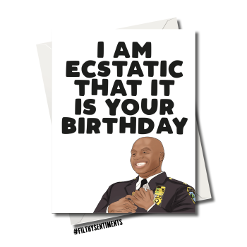 BIRTHDAY ECSTATIC BROOKLY 99 CARD FS1223