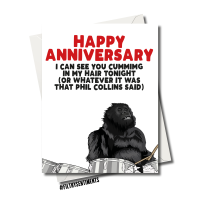 ANNIVERSARY GORILLA PHIL COLLINS CARD FS1197