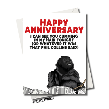 ANNIVERSARY GORILLA PHIL COLLINS CARD FS1197