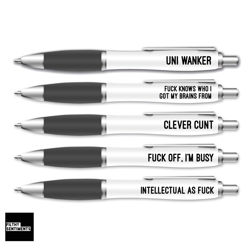 UNI WANKER PEN SET BLACK TRIM