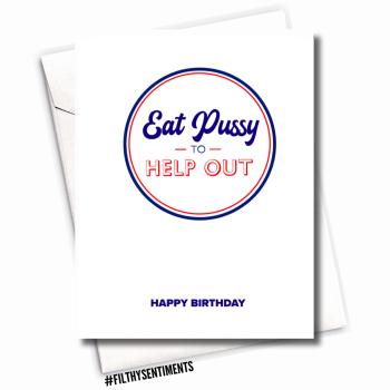 EAT PUSSY BIRTHDAY CARD - fs1189