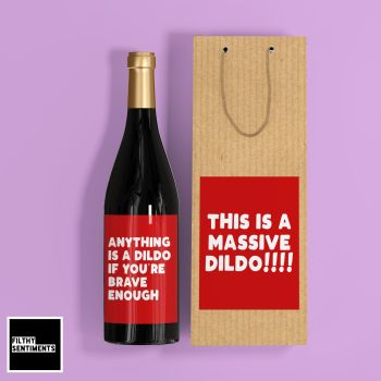 DILDO WINE LABEL AND GIFT BAG SET - E18