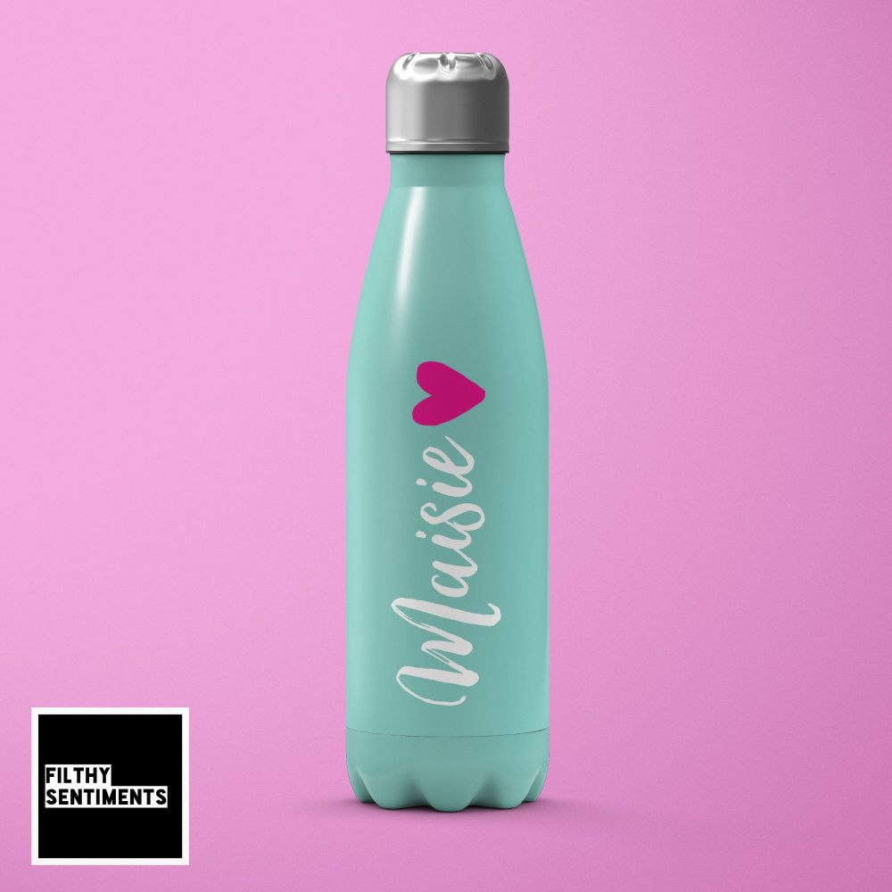 HEART PERSONALISED CHILLY BOTTLE