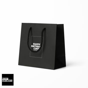 HAPPY BIRTHDAY CUNT GIFT BAG - E32